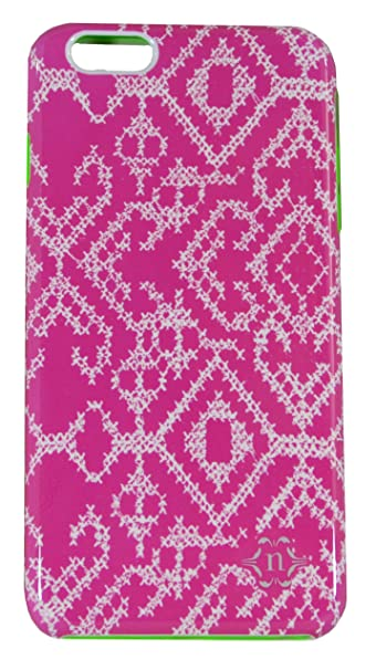detailed look 4828b 66dd5 Nanette Lepore - Texture Print Hard Shell Case for Apple iPhone 6 Plus -  Pink/White