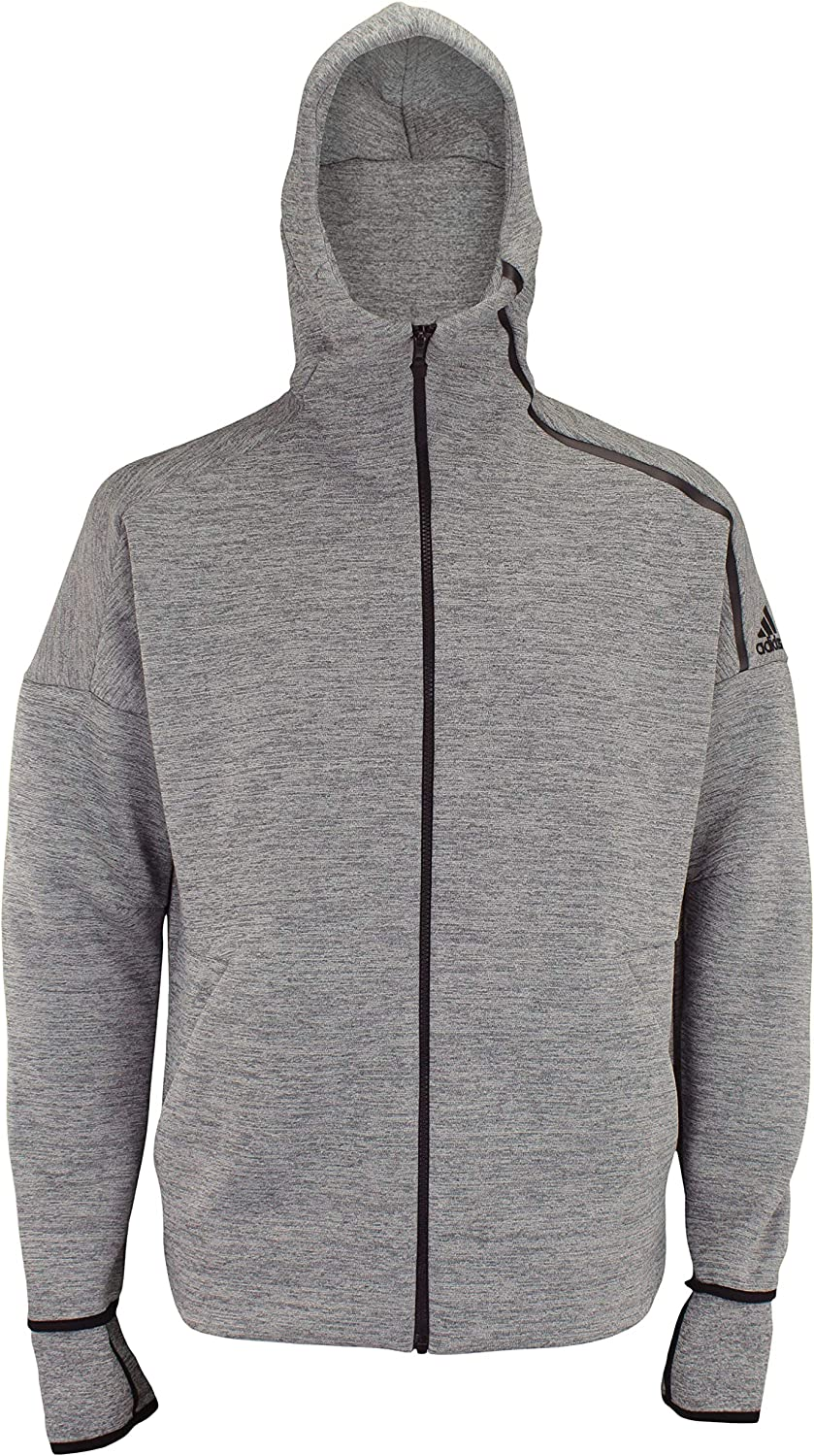 adidas Men's ZNE Fast Release Full Zip Hoodie: Clothing