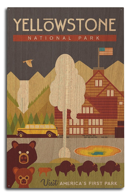 【2018年製 新品】 イエローストーン国立公園 WY x - Sign 幾何学模様 Canvas x Tote Bag LANT-81455-TT B07364HK6D 10 x 15 Wood Sign 10 x 15 Wood Sign, ダンス衣装 オズコレクション:990e1f44 --- vezam.lt