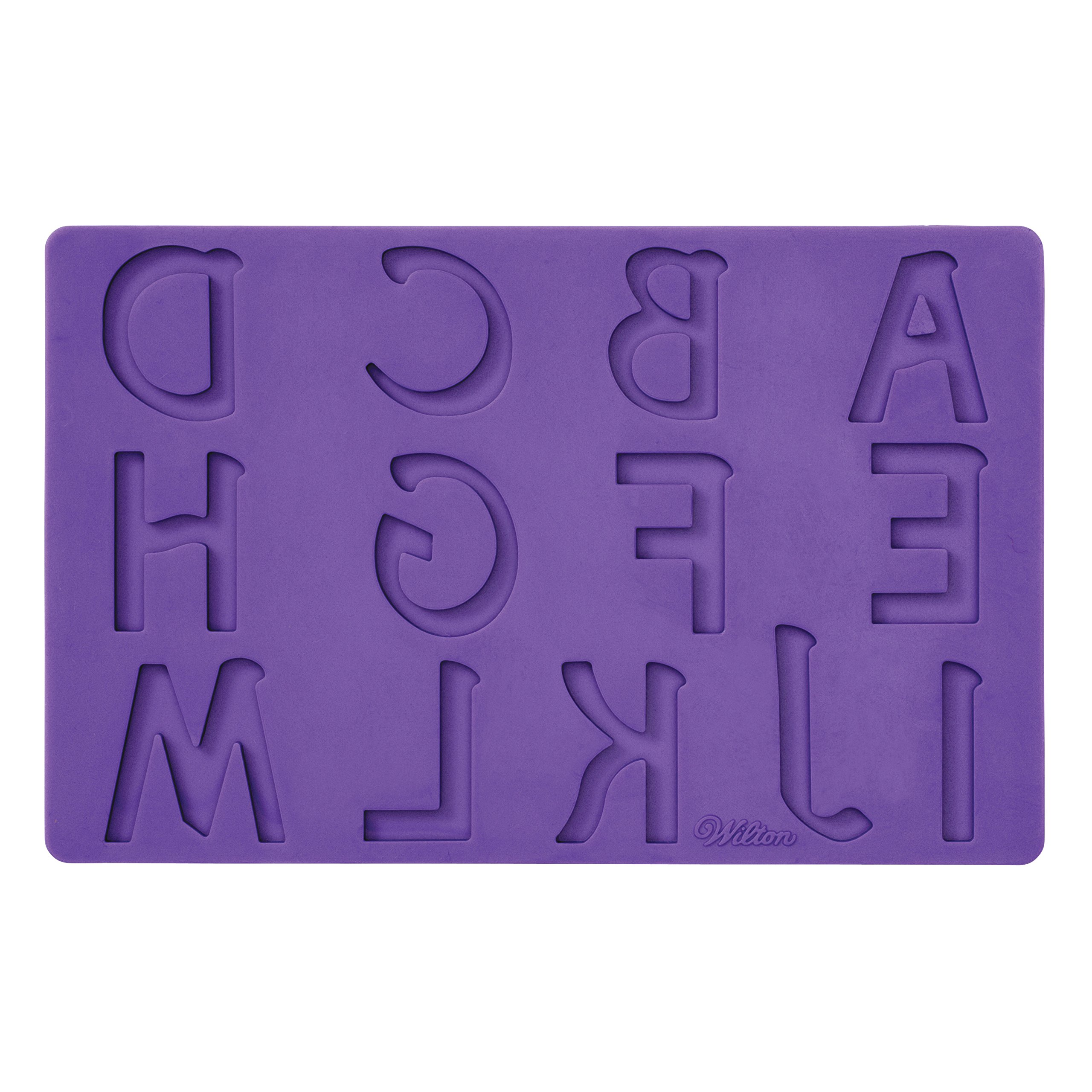 Wilton Silicone Letters and Numbers Fondant and Gum Paste Molds, 4-Piece - Cake Decorating Supplies by Wilton (Image #3)