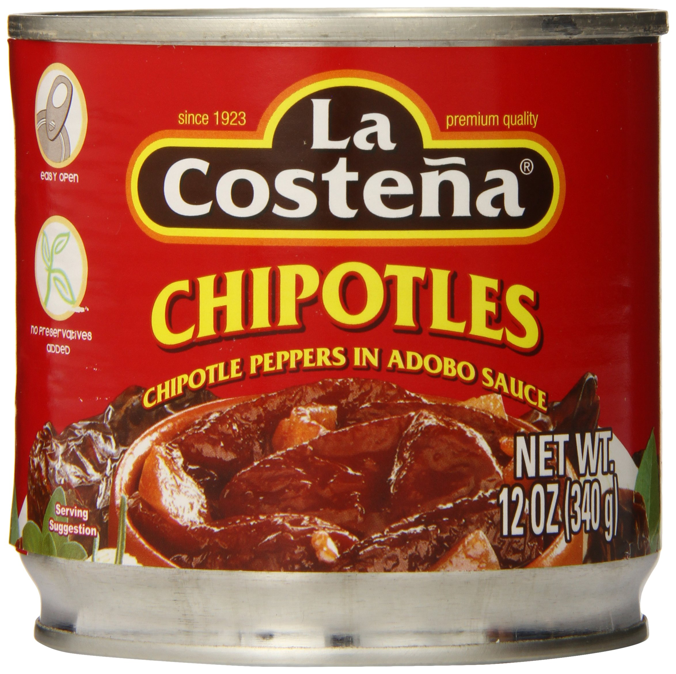 La Costena Chipotle Peppers, 12 Ounce (Pack of 12)