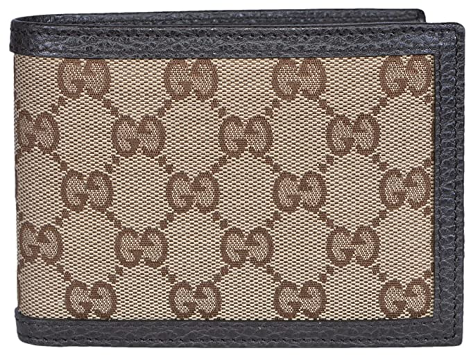9d9dcaccf20 Image Unavailable. Image not available for. Colour  Gucci Men s Canvas  Leather GG Guccissima Bifold Wallet ...