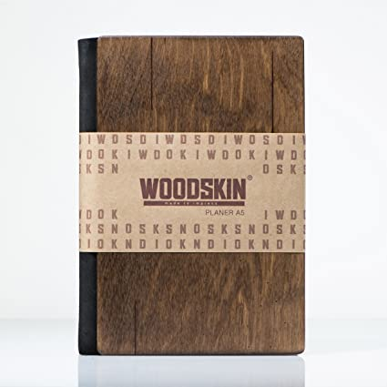 woodskin diario A5 planificador sin fecha, edición limitada ...