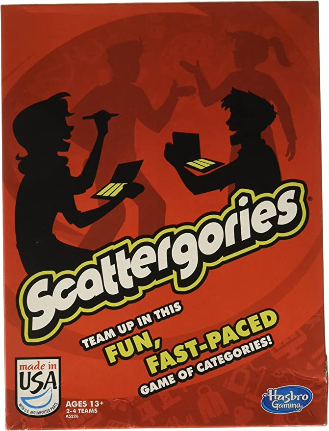 Hasbro Scattergories Board Game Model Number A5226 Ages 13 Toys Games Amazon Com