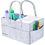 Baby Diaper Caddy By Bonbino - Luxury Portable Diaper Storage Caddy With Changeable Compartments. For Home, Car & Nursery Organizer For Diapers And Baby Wipes - Royal Grey Nursery Storage Bin