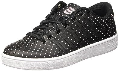 K-Swiss Women's Court Pro II CMF Dots Black/Blushing Bride Leather Sneaker 8