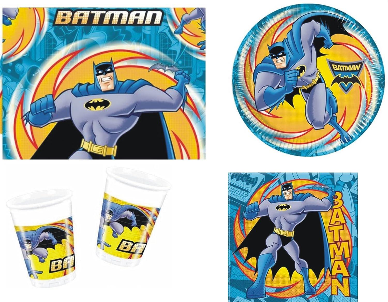 BATMAN SUPERHERO BIRTHDAY PARTY TABLEWARE PACK NAPKINS PLATES CUPS TABLECOVER Amazon.co.uk Toys \u0026 Games  sc 1 st  Amazon UK & BATMAN SUPERHERO BIRTHDAY PARTY TABLEWARE PACK NAPKINS PLATES CUPS ...
