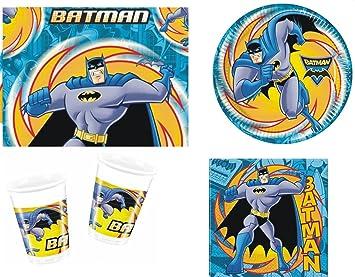 Amazon.com: Batman superhéroe fiesta de cumpleaños paquete ...