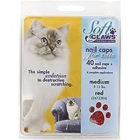 Feline Soft Claws Cat Nail Caps Take-Home Kit, Medium, Red
