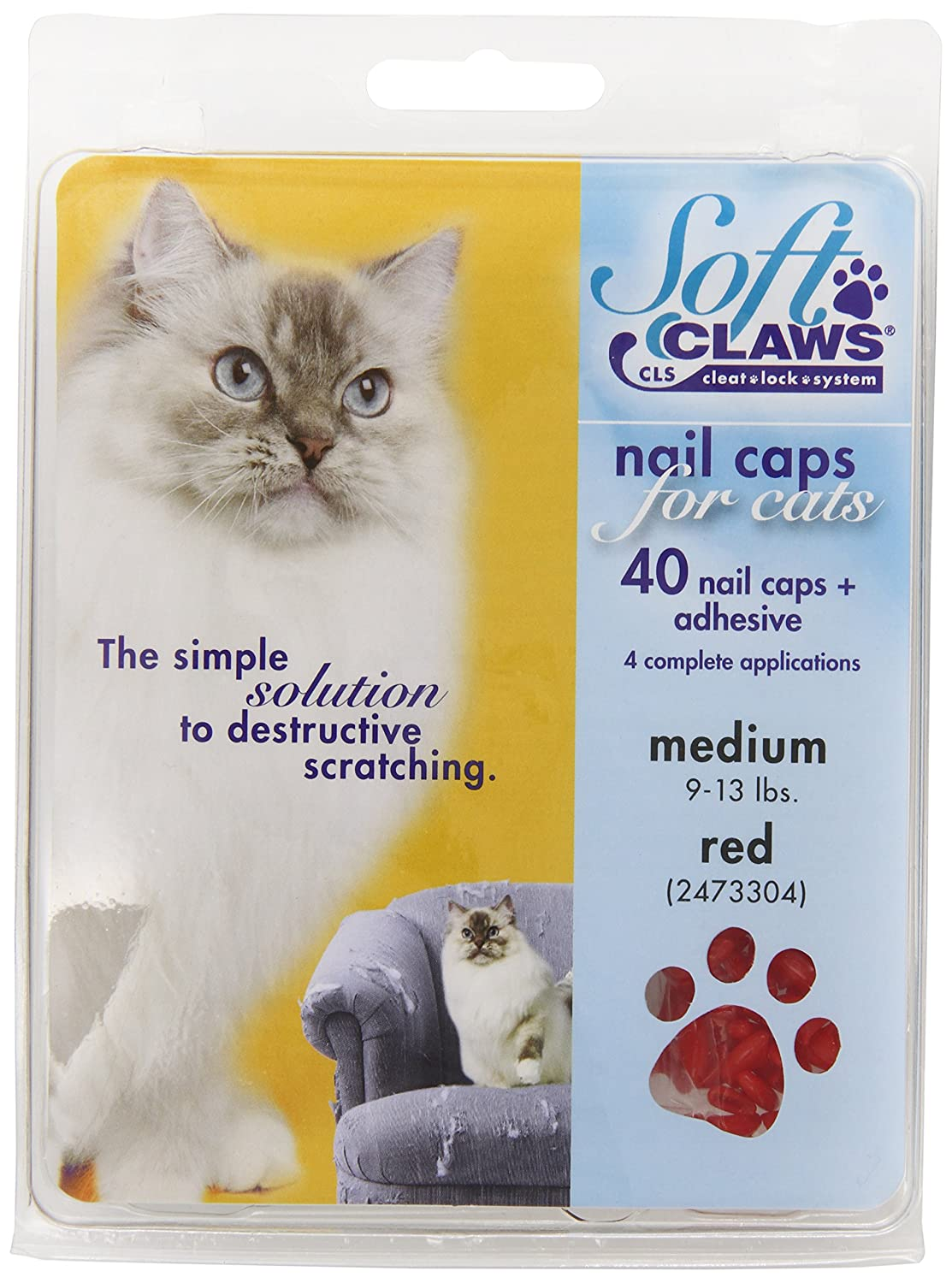 Soft Claws Cat Nail Caps. Capture