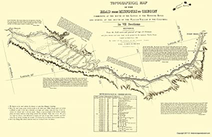 photo relating to Oregon Trail Map Printable identified as : Topographical Map Print - Oregon Path Idaho 6