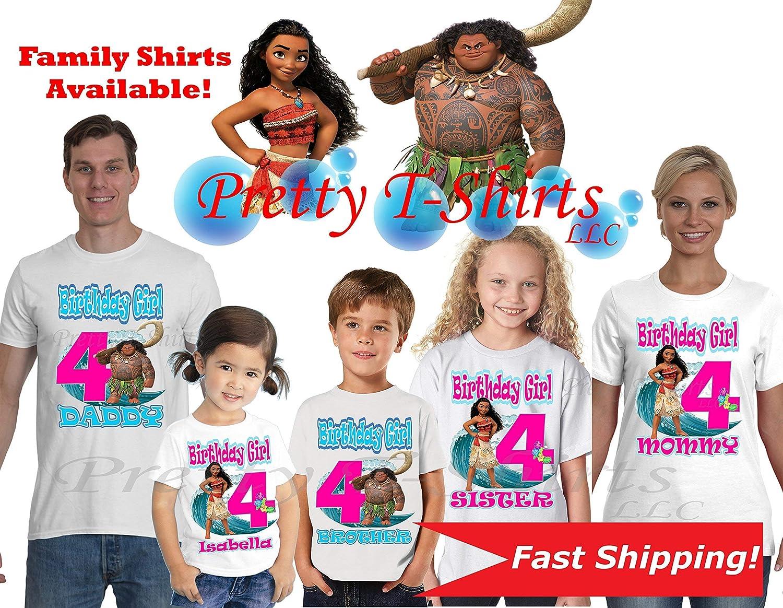 2eaff724 Amazon.com: Moana Birthday Shirt, Family Birthday Shirts, Moana ...