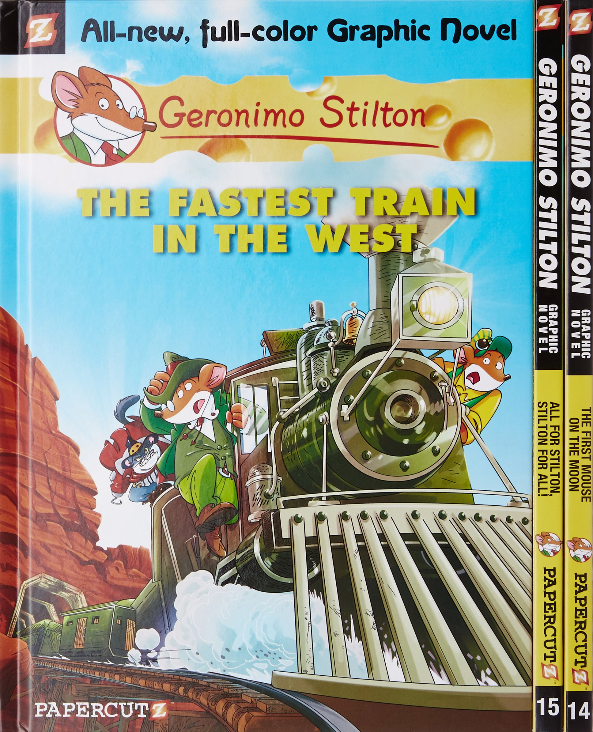 Geronimo Stilton Graphic Novels #13: The Fastest Train In the West