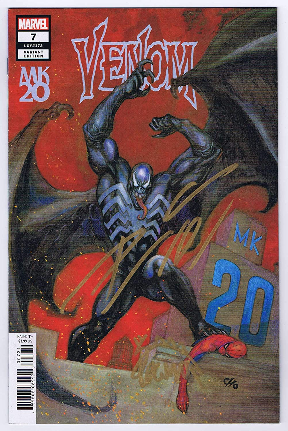 Venom #7 Cho Variant Near Mint- Signed w/COA Donny Cates