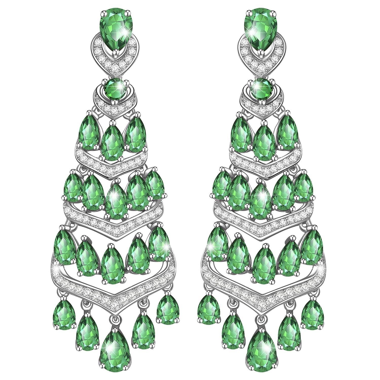 MARENJA Regalo San Valentín Pendientes Mujer de Moda Bohemio Verde Joya Chapada