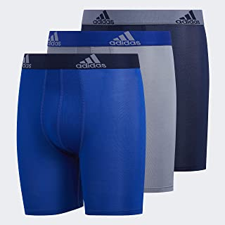 adidas Youth Kids-Boy's Performance Midway / Long Boxer Briefs Underwear (3-Pack), Collegiate Royal/Collegiate Navy Grey/Collegiate R, SMALL