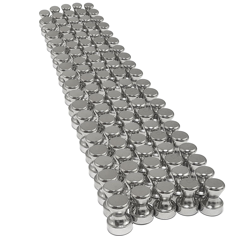 100 Neodym Push Pins Kegelmagnete Ø12 mm 16 mm hoch | NICHT für Glasmagnettafeln und Magnetfarbe geeignet | Magnete mit Neodymkern