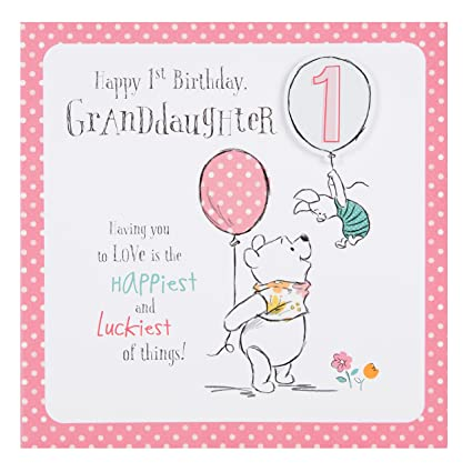 Amazon Hallmark Disney Baby Winnie 1st Birthday Granddaughter