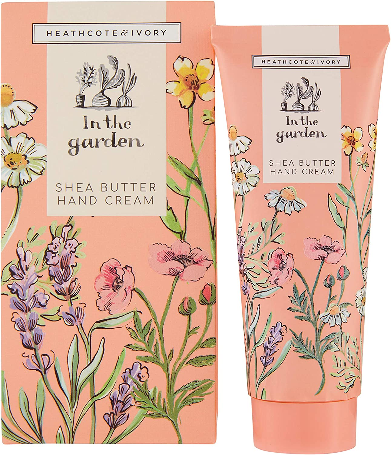 Heathcote & Ivory In The Garden Hand Creams Trio in Gift Box Travel Size with Shea Butter, 3 x 30ml