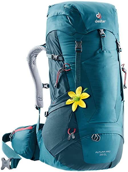 9ff2d106 Deuter Futura PRO 38 SL Hiking Backpack with Detachable Rain Cover,  Denim/Arctic,