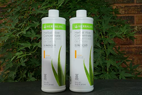 HERBALIFE Herbal Aloe Concentrate Two One Pint Bottles MAKES TWO FULL GALLONS. Your Choice of Flavors