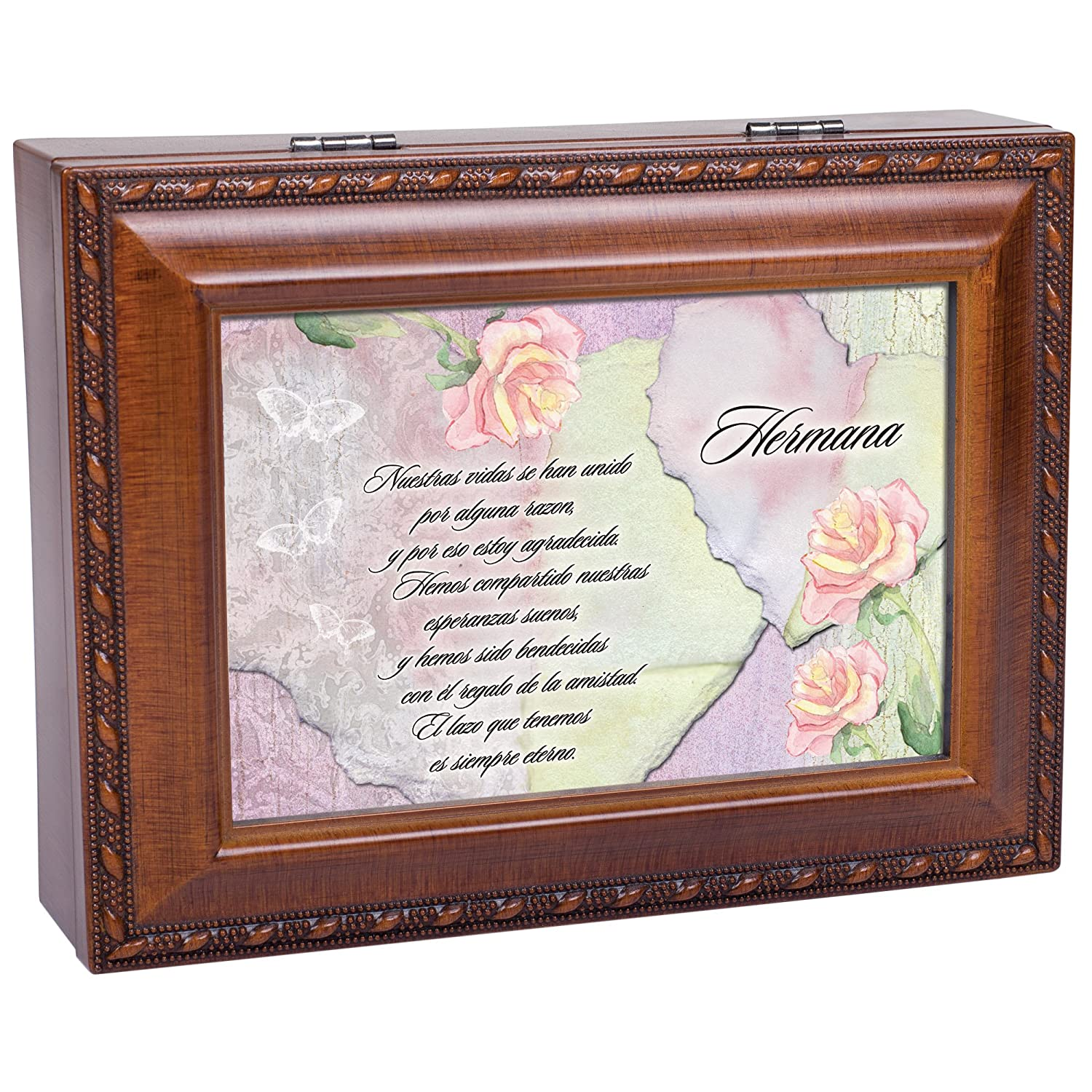 Amazon.com: Cottage Garden Hermanas Wood Finish Jewelry Music Box Thats What Friends are for: Home & Kitchen