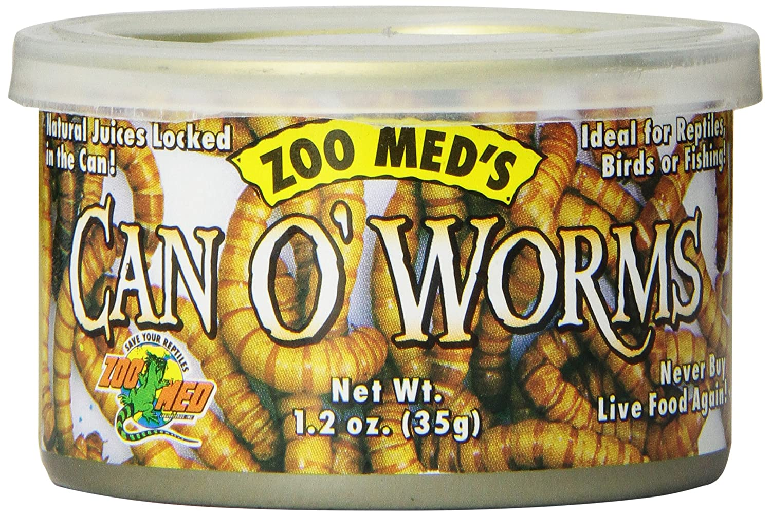 Zoo Med Laboratories SZMZM42 Can O Worms, 1.2-Ounce TopDawg Pet Supply ZM-42