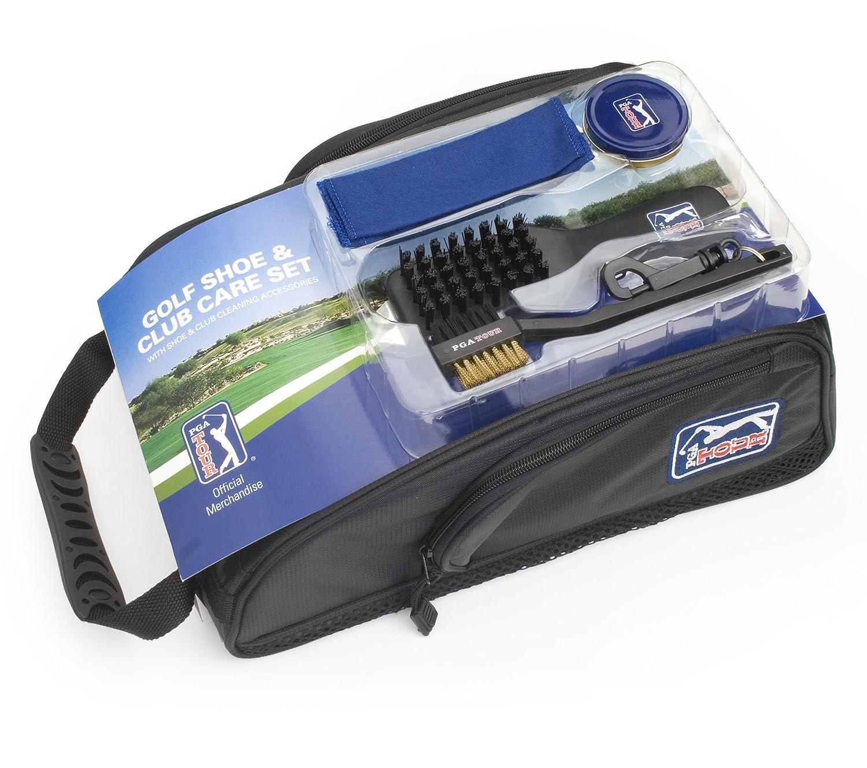 PGA TOUR - Borsa per scarpe con accessori per la pulizia PGAT39
