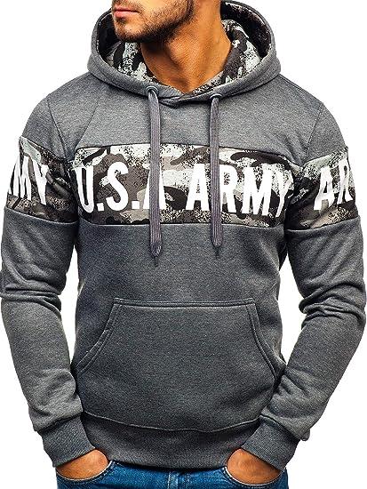 cheap for discount e62eb 28a92 BOLF Herren Kapuzenpullover Hoodie Sweatshirt Pullover Militär Army Camo  Muster 1A1