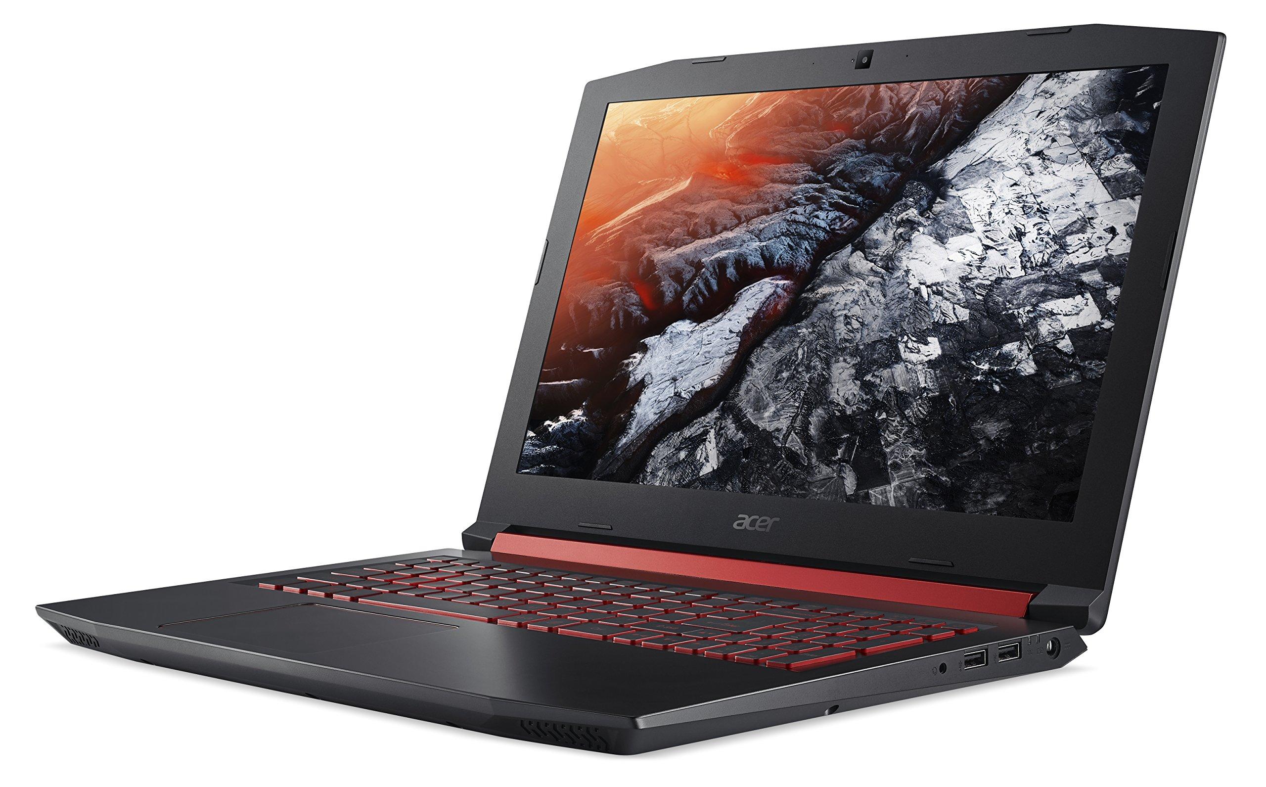 "Acer Nitro 5 Gaming Laptop, Intel Core i5-7300HQ, GeForce GTX 1050 Ti, 15.6"" Full HD, 8GB DDR4, 256GB SSD, AN515-51-55WL 3"