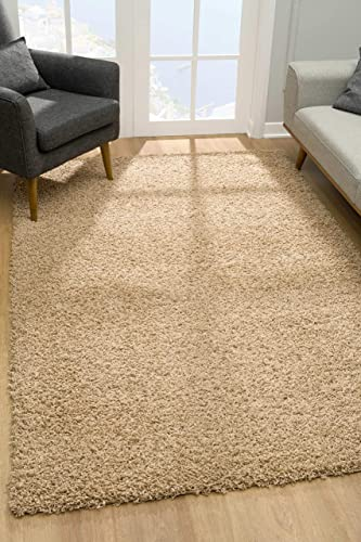 Malibu Collection Modern Shaggy Area Rug