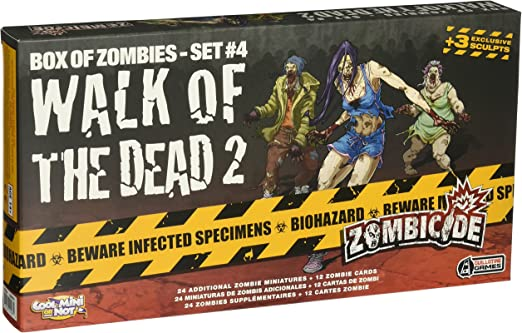 Cool Mini or Not Zombicide Box of Zombies: Walk of The Dead 2 Set #4 - Juego de Mesa, para 6 Jugadores (CoolMiniOrNotInc. GUG0018) (versión en inglés) Talla única: Amazon.es: Juguetes y juegos