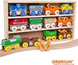 Orbrium Toys 12 Pcs Wooden Engines \u0026 Train Cars Collection with Animals Farm Safari Zoo  sc 1 st  Amazon.com & Amazon.com: KidKraft Waterfall Mountain Train Set and Table: Toys ...