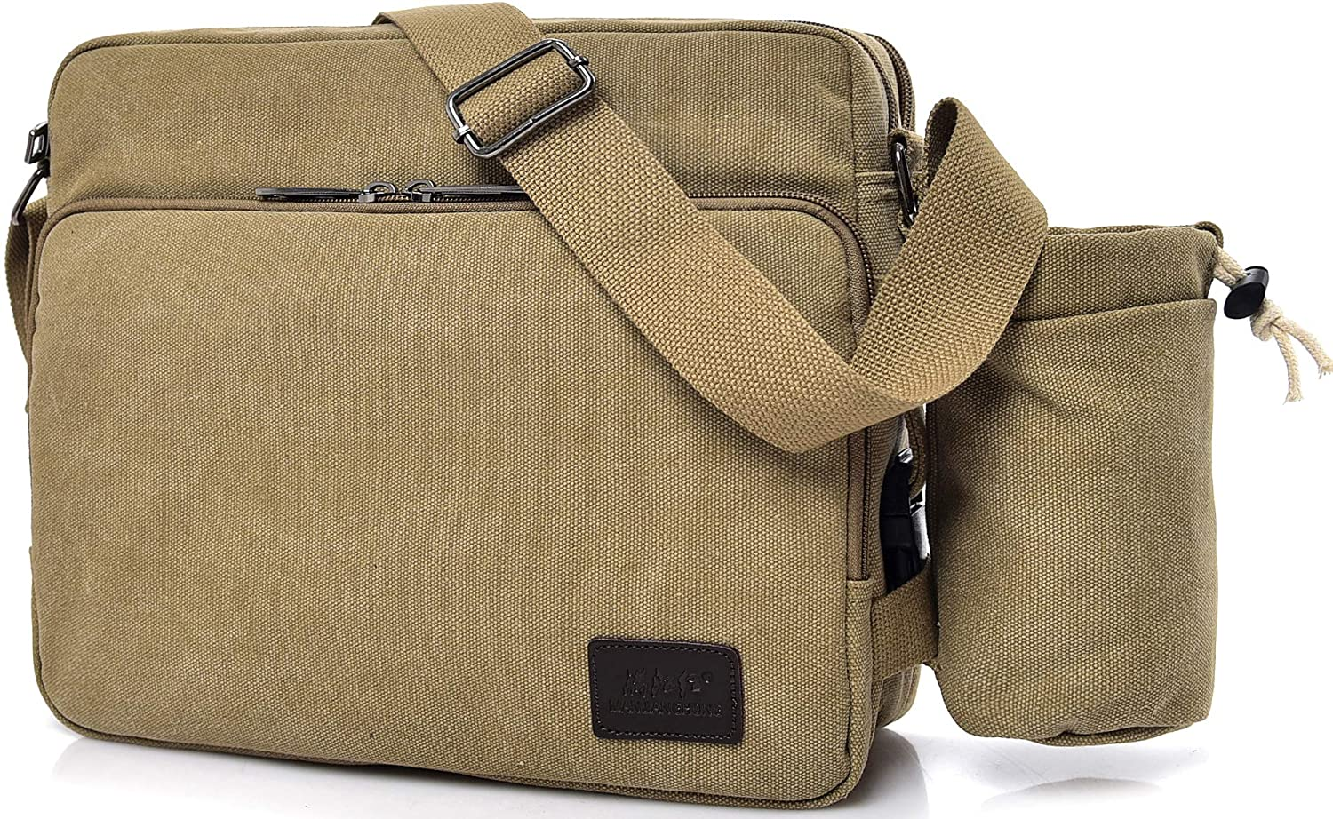 Scioltoo Laptop Messenger Bag Retro Canvas Waterproof Hiking Shoulder Bag