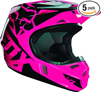 Fox Racing Race Youth V1 Motocross Motorcycle Helmet - Pink / Large