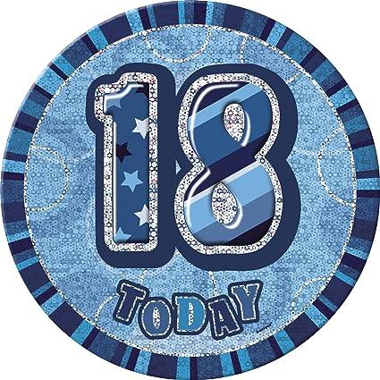 "6/"" Black Sparkle Giant 50th Birthday Prismatic Party Badge"