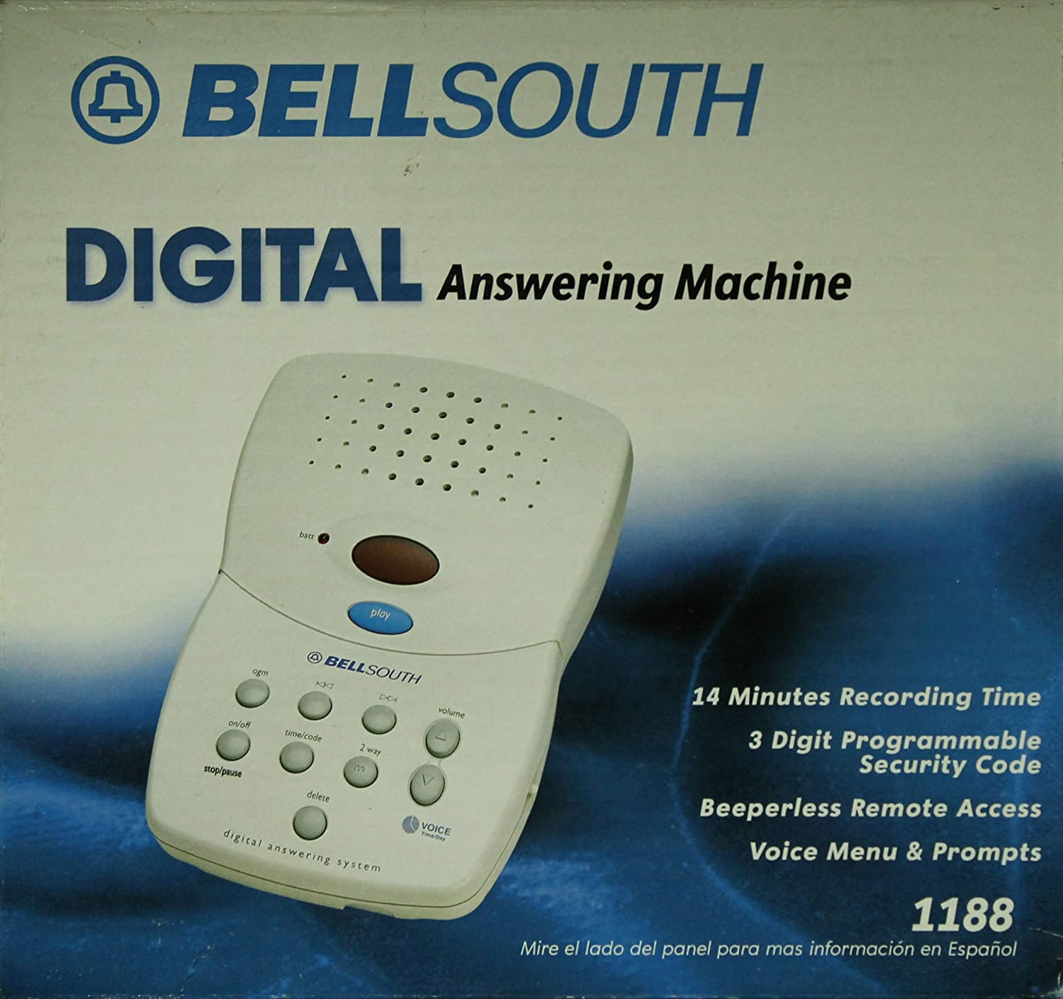 Amazon Bell South 1188 Digital Remote Access Answering Machine