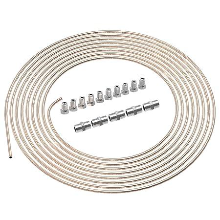 10 Meter Bremsleitung 4,75 mm 20 x Verschraubungen 10 Verbinder Bördel F