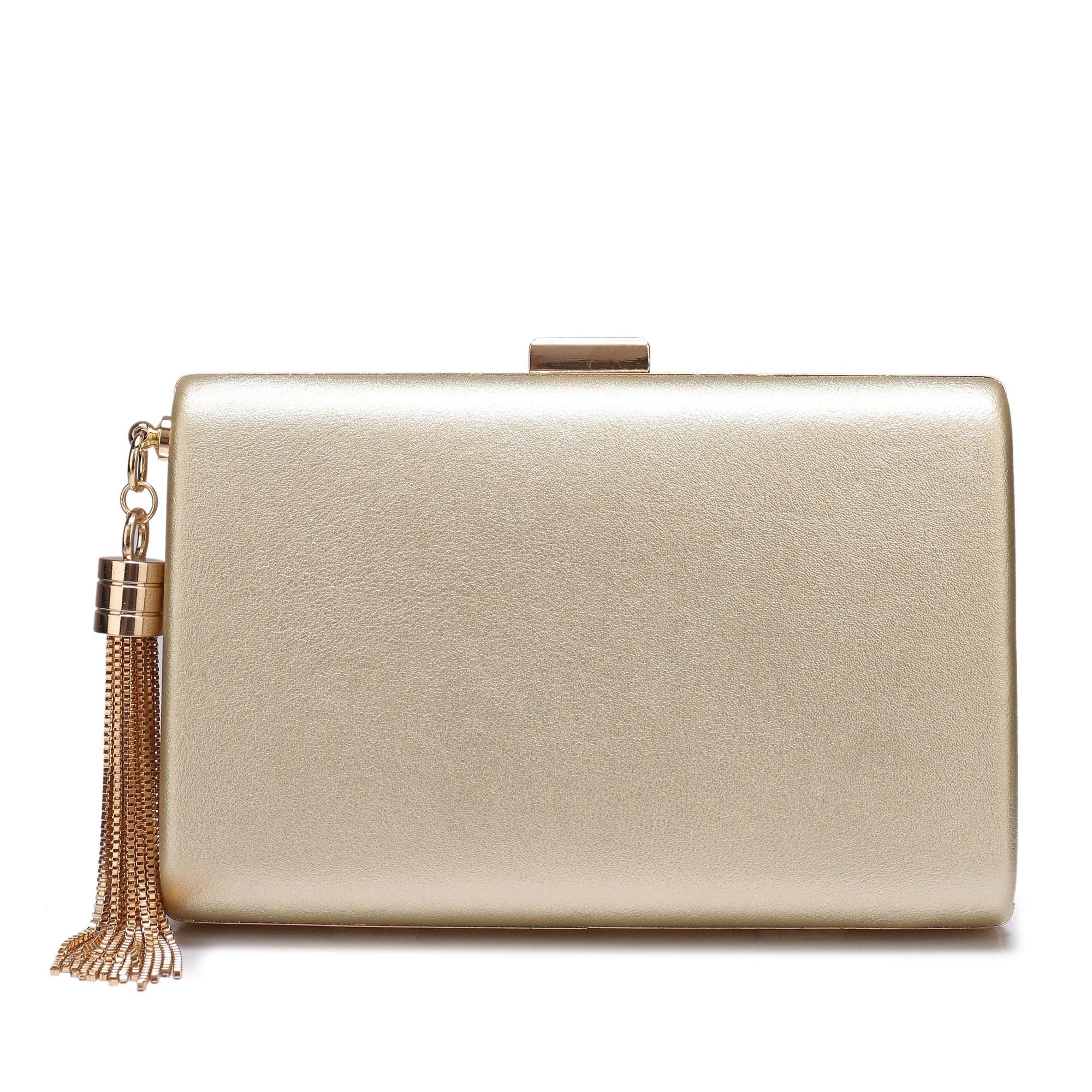 Leather Evening Clutch Handbag Clutch Purse Prom For Cocktail Wedding Women Gold