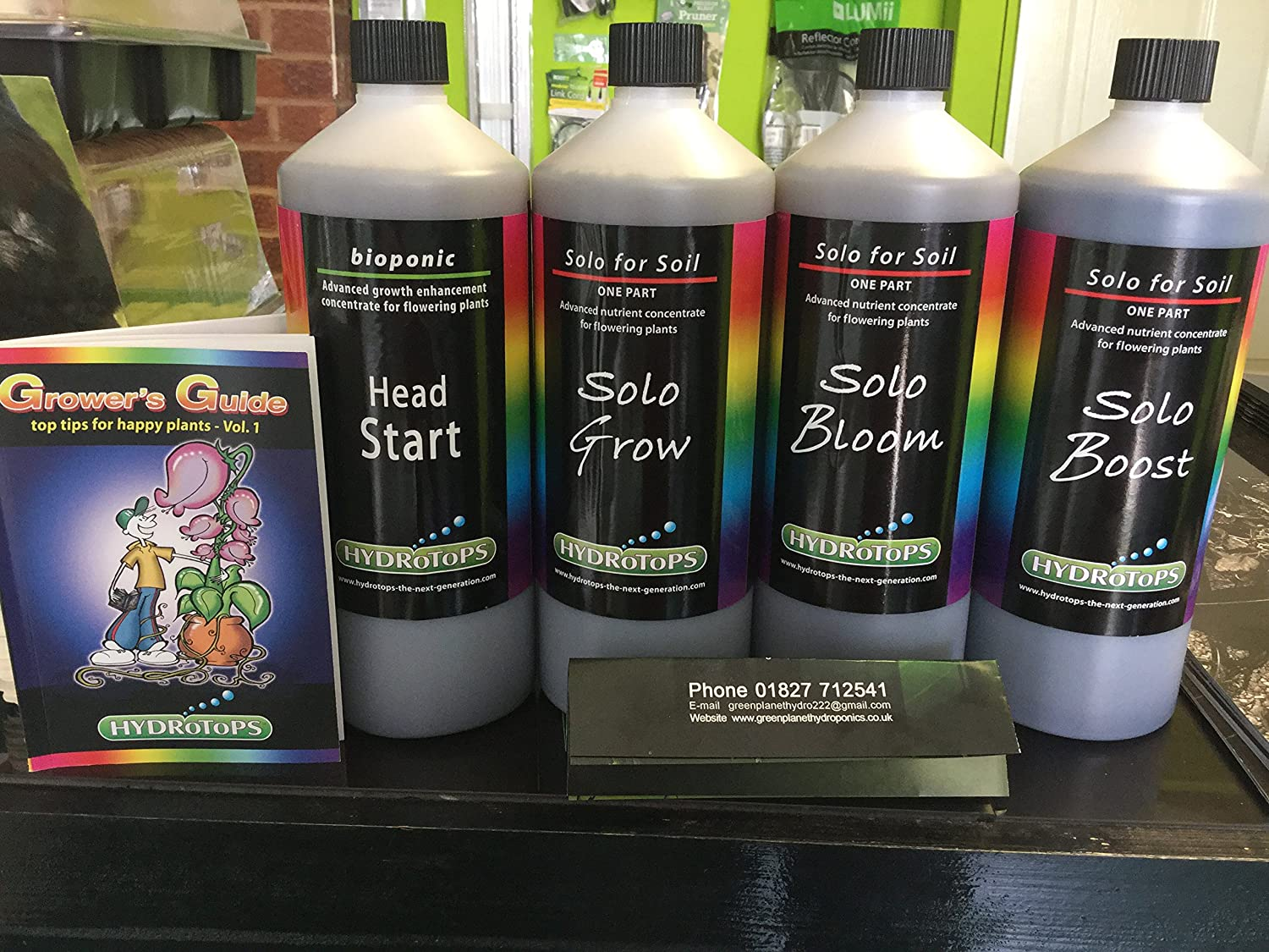 hydrotops Boden Set X 4 Produkte, Head Start 1L, Solo Grow 1L, Bloom 1L, Boost 1L RRP £80
