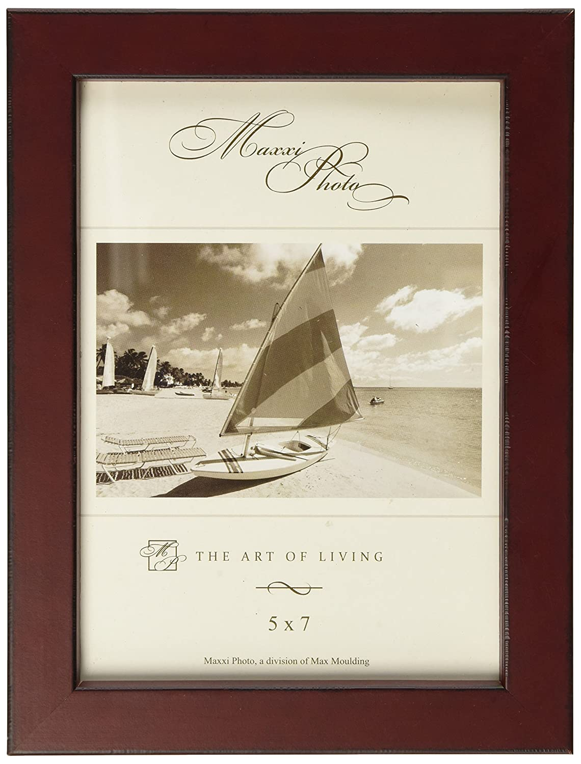 Maxxi Designs Photo Frame with Easel Back, 4 x 6, Blue St. Tropez P579082-46