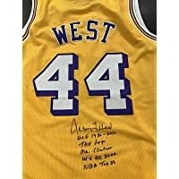 $381 » Jerry West Signed Jersey COA STATS Autograph Kobe Bryant HOF Logoman Card - JSA Certified - Autographed NBA Jerseys