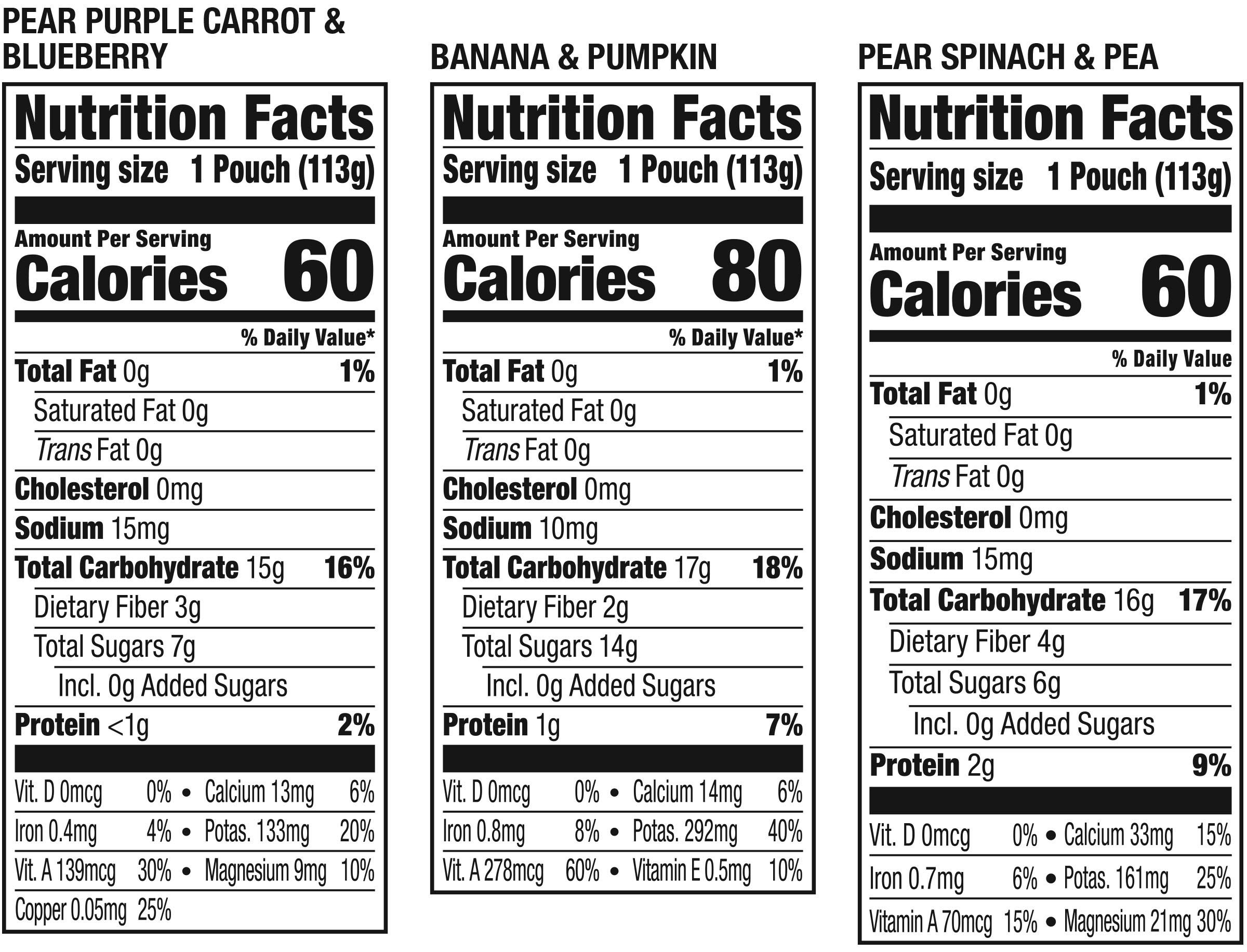 Plum Organics Stage 2, Organic Baby Food, Fruit and Veggie Variety Pack, 4 ounce pouch, Pack of 18 (Packaging May Vary) by Plum Organics (Image #2)