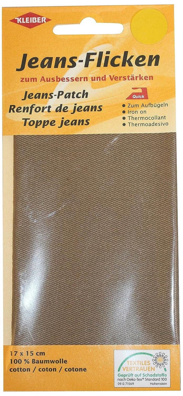 Kleiber - Parche de reparación para pantalones vaqueros, 17 x 15 cm, color Color beige