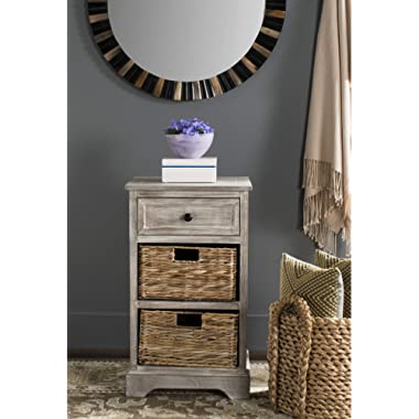 Safavieh American Homes Collection Carrie White Washed Side Table