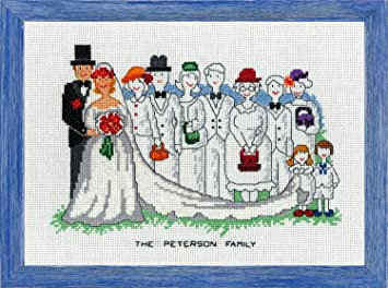 Cross Stitch Kit - Modern Wedding - By Permin of Copenhagen: Amazon ...