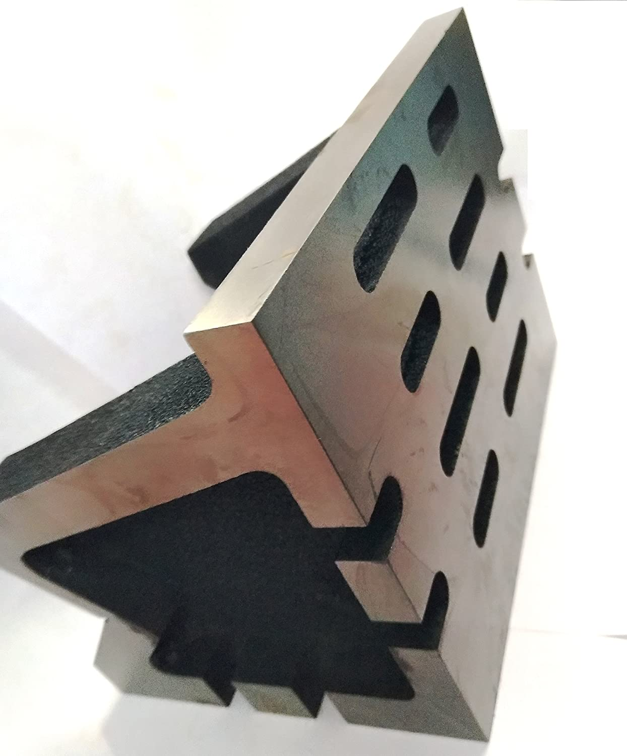 100 x 100 x 150 mm -Slotted WORK-HOLDING CLAMPING MILLING ENGINEERING MACHINE TOOLS-HEAVY DUTY 4 x 4 x 6 QUALITY PRECISION GRADED CASTE IRON VEE ANGLE PLATES-STRESS RELIEVED
