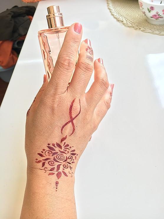 Tattoo Plantilla Plantilla 4 unidades Set Henna Designs para un ...
