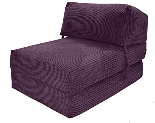 chair bed uk. jazz chairbed - aubergine da vinci deluxe single chair bed futon uk