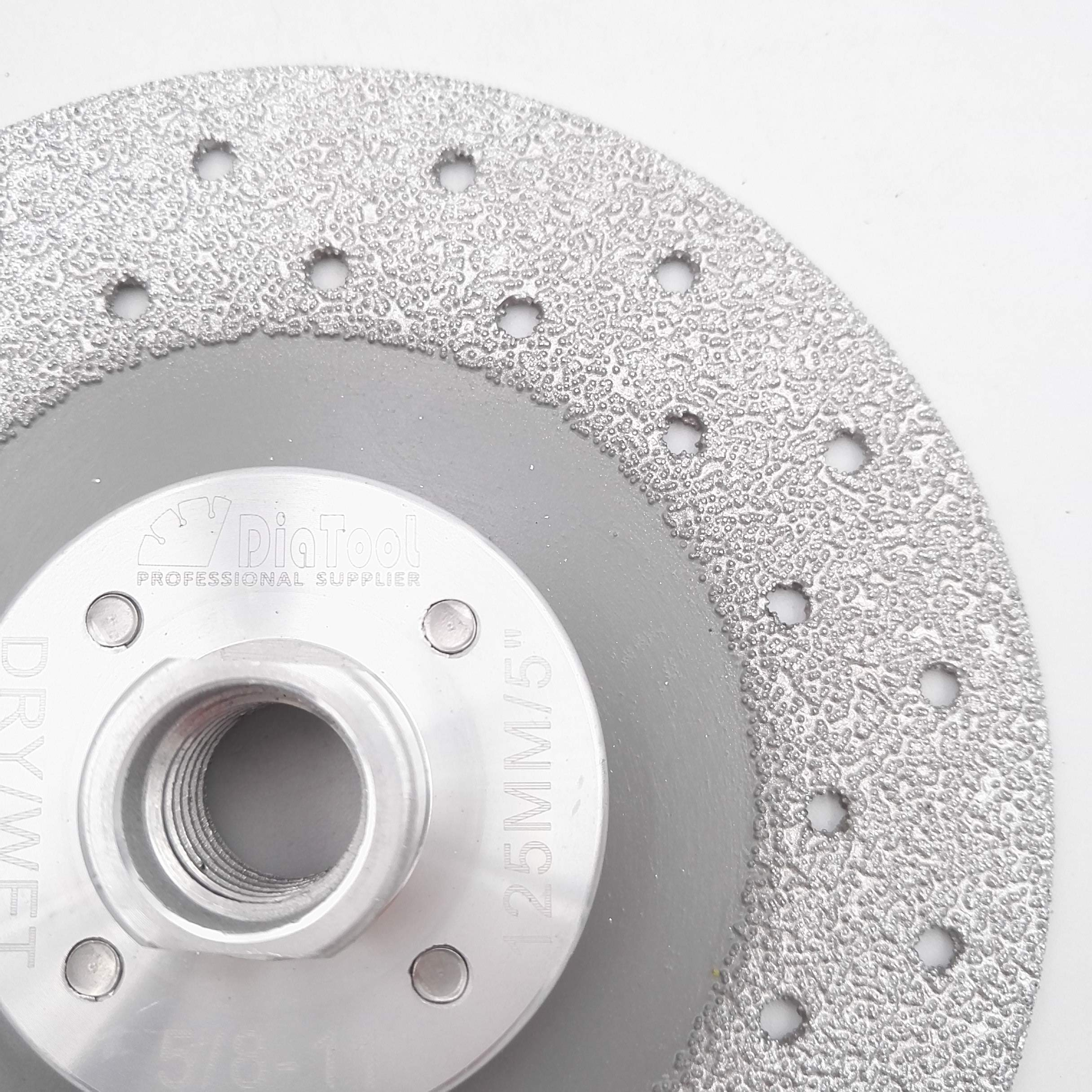 DIATOOL Diamond Cutting Grinding Disc 5 inch Double Sided Vacuum Brazed Fast cutting shaping grinding Marble Ceramic by DIATOOL (Image #4)